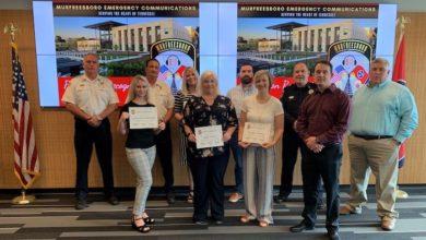 Photo of Murfreesboro Emergency Communications promotes five employees