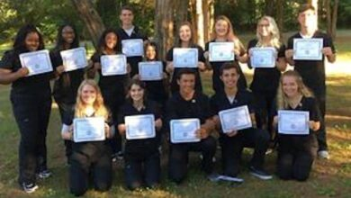 Photo of Rutherford students complete Certified Nursing Assistant summer program