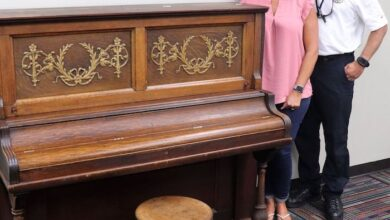 Photo of Former Fire Chief Donates Family Piano to La Vergne Public Library