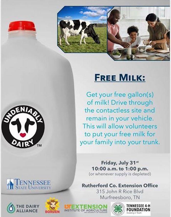 Free Milk Drive