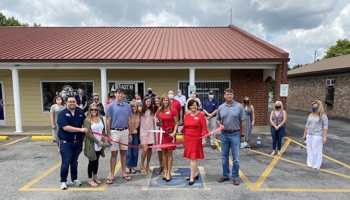 Ribbon Cutting for Farmer's Insurance - Sharon Perry Agency