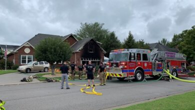 Photo of Husband and wife escape house fire unharmed