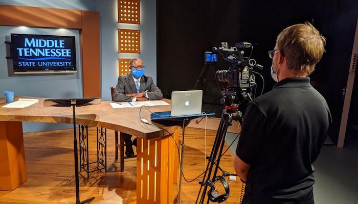 McPhee in True Blue TV Studio
