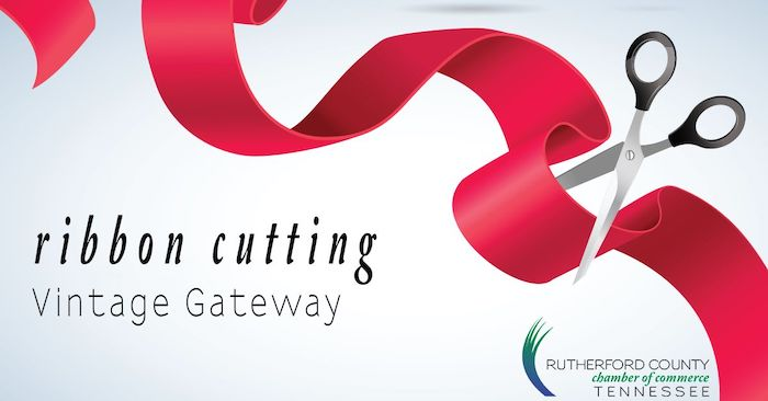Ribbon Cutting - Vintage Gateway