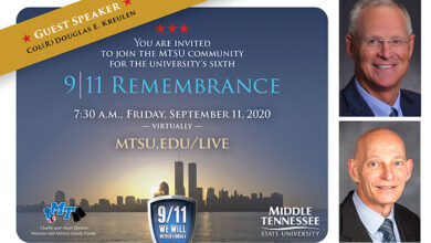 Photo of Decorated veteran headlines virtual 9/11 Remembrance at MTSU