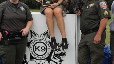 Photo of Eagle Scout candidate builds K9 agility course