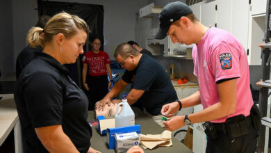 Photo of MTSU's Police Department takes medical training course