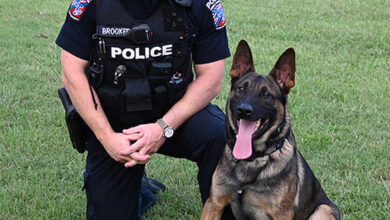 Photo of MTSU's sole K9 celebrates his first year on the force