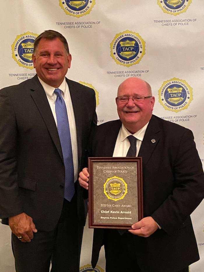 Chief Arnold Receives Joe Case Award