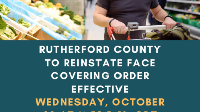 Photo of Rutherford County to Reinstate Face Covering Order