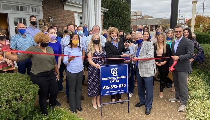 Ribbon Cutting and rebranding for Coldwell Banker Barnes