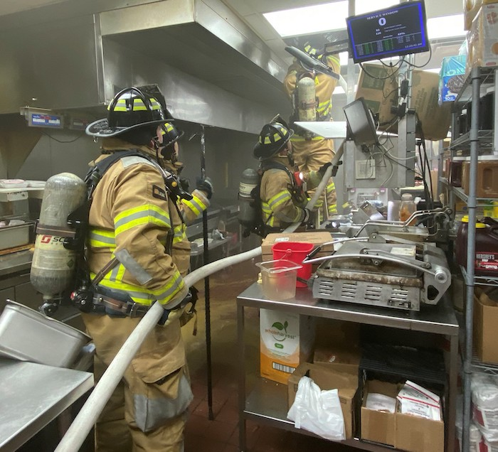 Fire at Cookout Restaurant