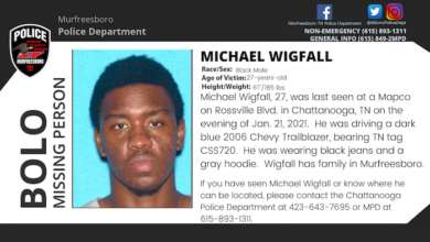 Missing person Michael Wigfall
