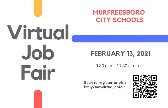 Murfreesboro City Schools Virtual Job Fair