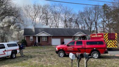 Duplex Fire on Cedar Street