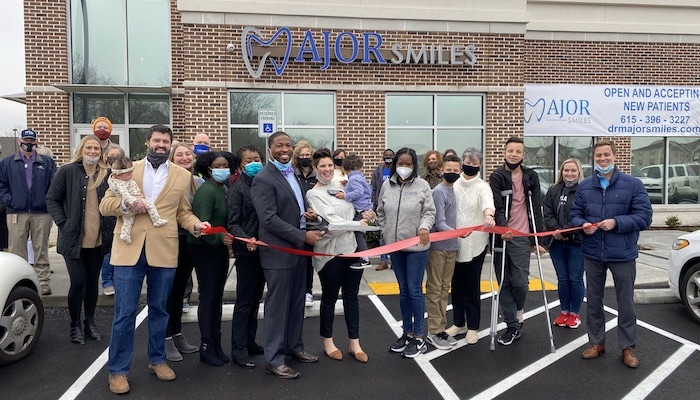 Ribbon Cutting for Major Smiles