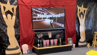 Hollywood themed classroom at Siegel