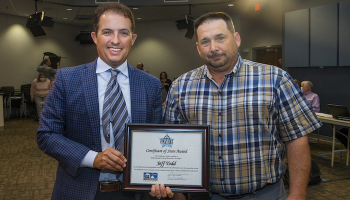 Jeff Todd receives STARS Award