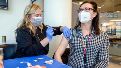 MTSU Rec Center vaccine Andrea Sakoff