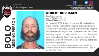 Missing Person Robert Bushman