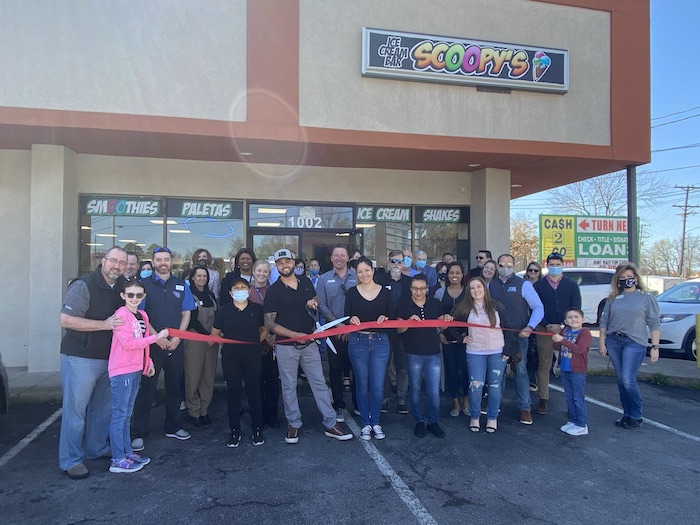 Ribbon Cutting for Scoopy's Ice Cream