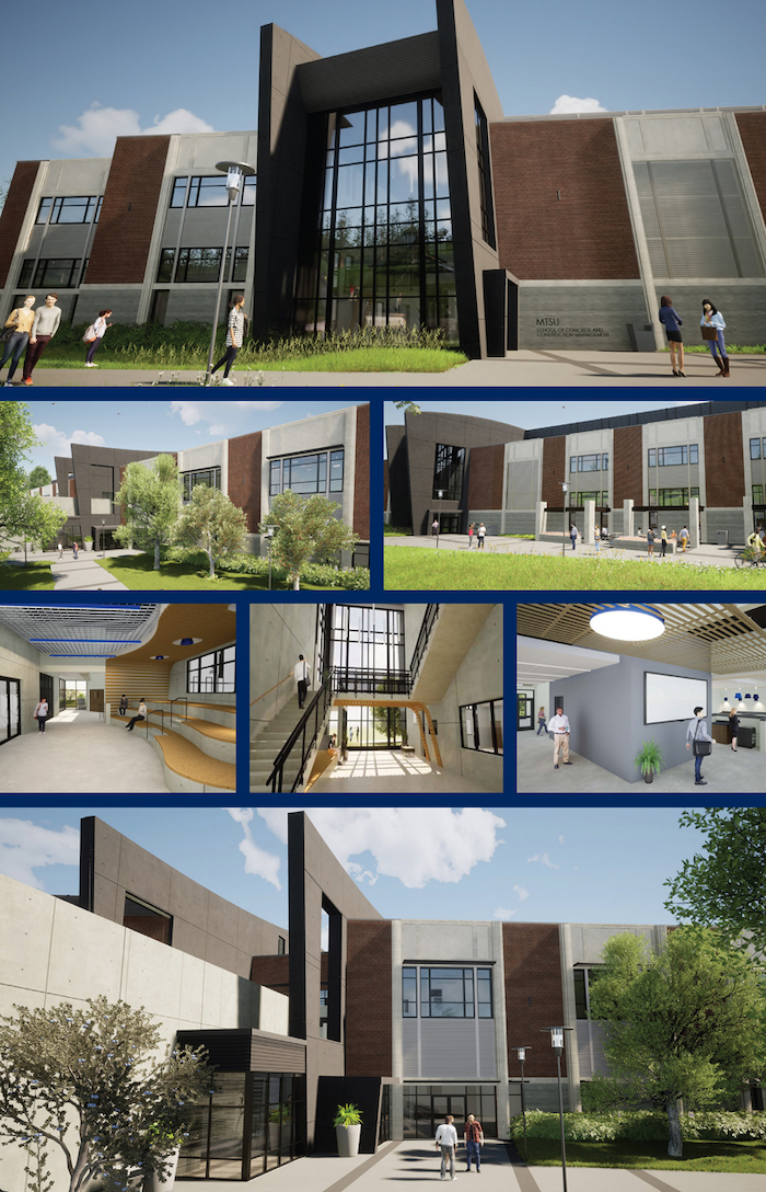 MTSU Concrete and Construction building rendering