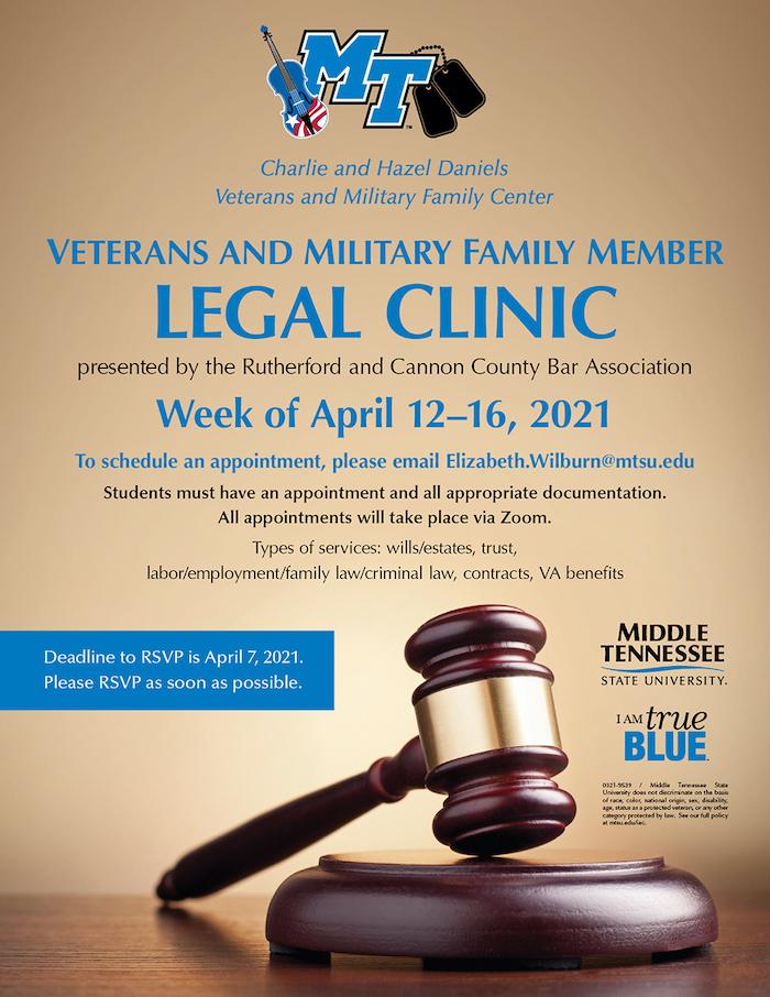 MTSU Legal clinic 2021