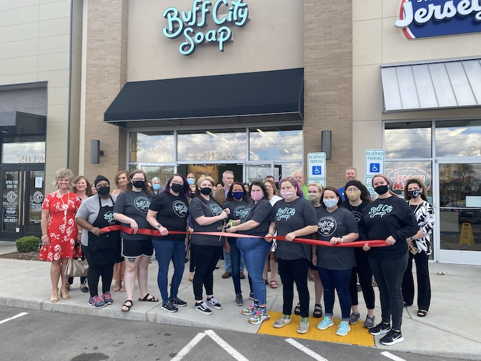 Ribbon Cutting for Buff City Soap