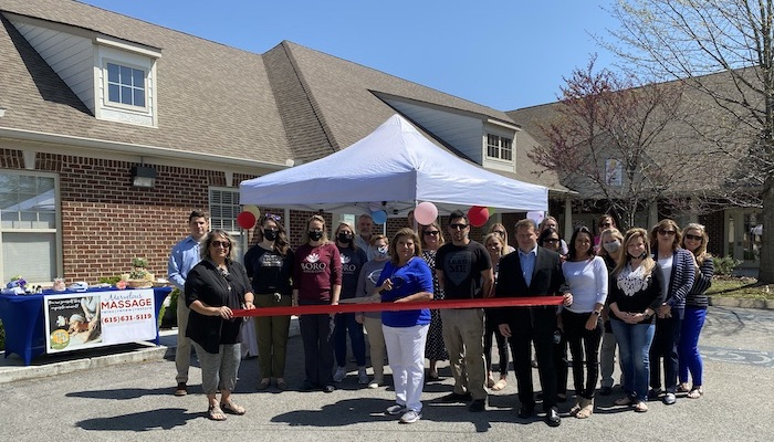 Ribbon Cutting for Marvelous Massage