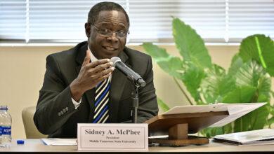Sidney McPhee MTSU President