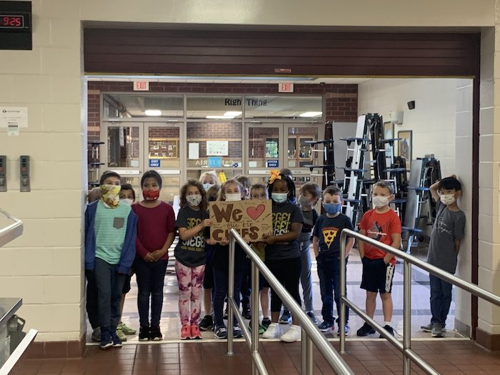 First graders celebrate School Lunch Hero Day