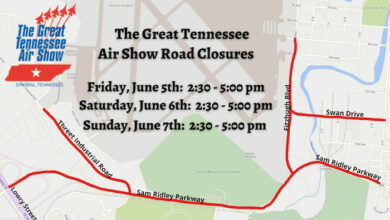Great Tennessee Air Show Traffic Advisory