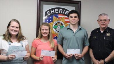 Sheriff's employees children earn scholarships