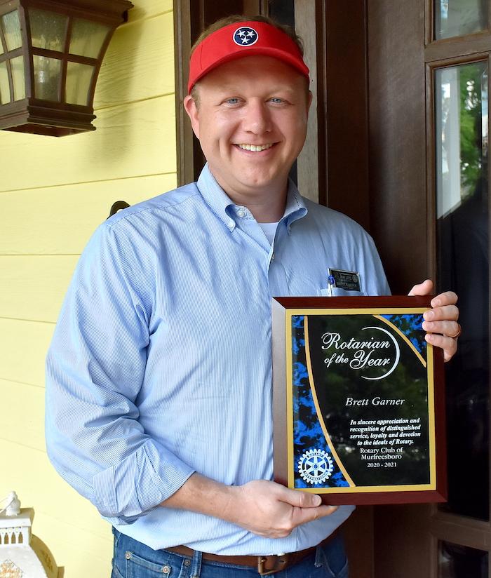 2020-2021 Rotarian of the Year - Brett Garner