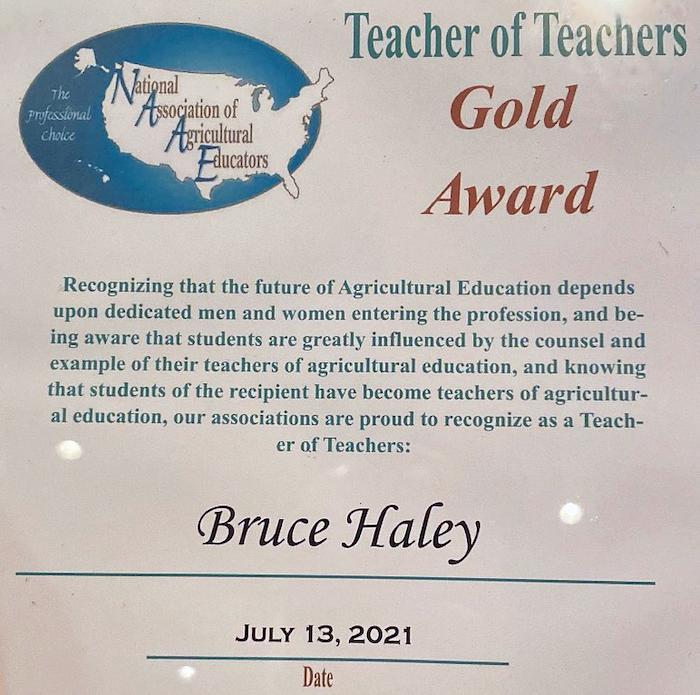 Bruce Haley awarded Gold Award