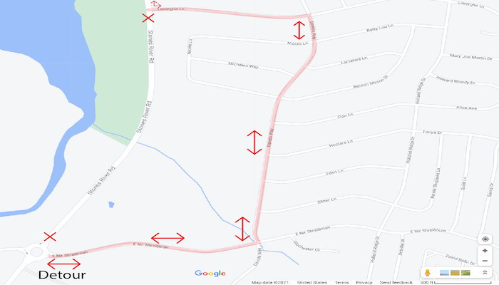 Lake Forest Community Phase A Detour Map