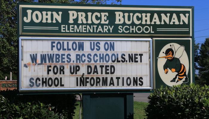 Buchanan Elementary School Sign