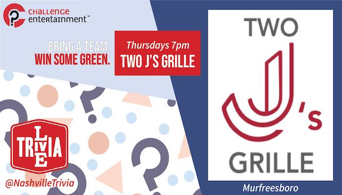 Live Trivia at Two J's Grill