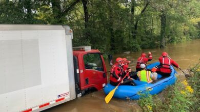 Rescuing Box Truck from Flood