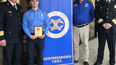 Exchange Club of Murfreesboro honors FireFighter : Advanced EMT of the Year