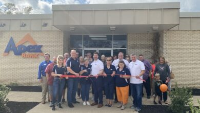 Ribbon Cutting for Apex Bank
