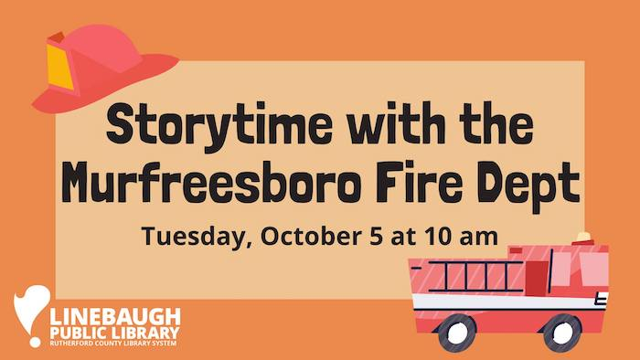 Storytime with the Murfreesboro Fire Department