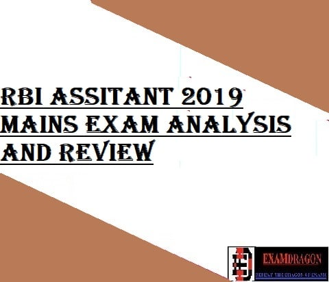 RBI ASSISTANT 2019 MAINS