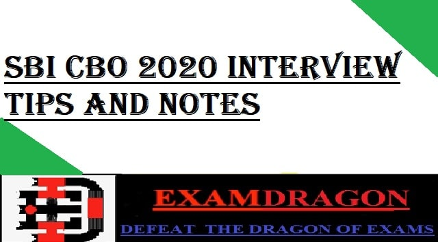 SBI CBO 2020 INTERVIEW
