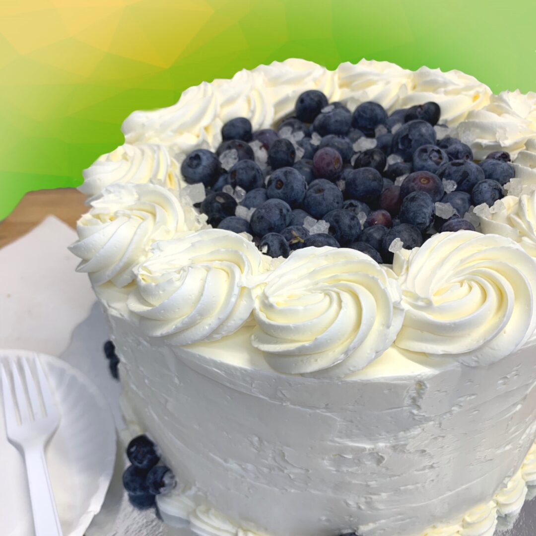 Lime Blueberry Cake