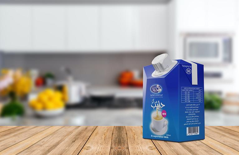 """""""الجيد"""" توسّع محفظة منتجاتها باعتماد حلول """"إس آي جي"""" للتعبئة والتغليف: الحليب المركّز في عبوات كرتونية قابلة لإعادة الإغلاق"""