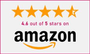 4.6 / 5 on Amazon