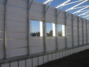 Commercial Polycore Canada Curtain Wall System for Pre Engineered Frames
