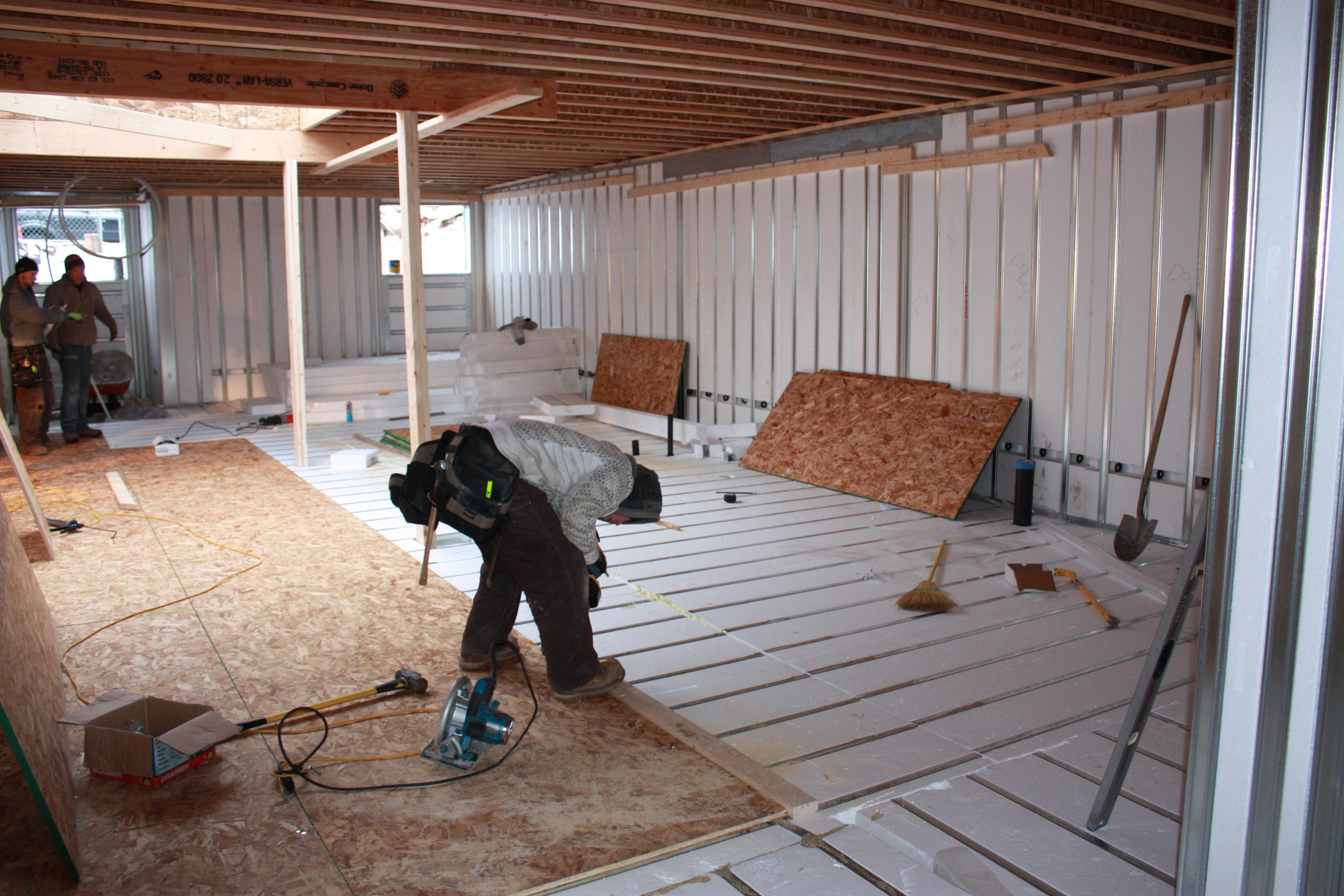No-Concrete Basement Floors