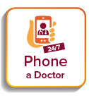 Phone a doctor button